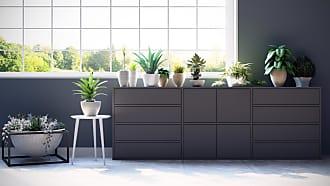 MYCS Sideboard Grau - Sideboard: Schubladen in Grau & Türen in Grau - Hochwertige Materialien - 226 x 80 x 35 cm, konfigurierbar