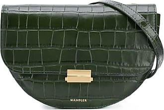 Wandler Pochete Anna com efeito pele de crocodilo - Verde
