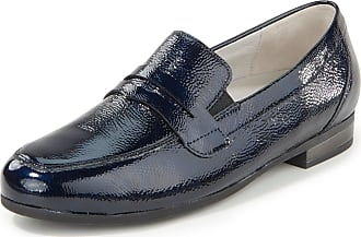 Waldläufer Loafers Ulla in creased cowhide patent leather Waldläufer blue