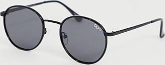 Quay Omen round sunglasses in black