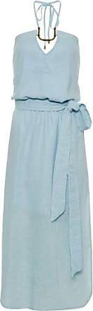Vix Vestido Solid Thai Midi Vix - Azul
