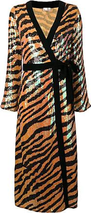 Rixo Vestido com estampa Tiger - Amarelo