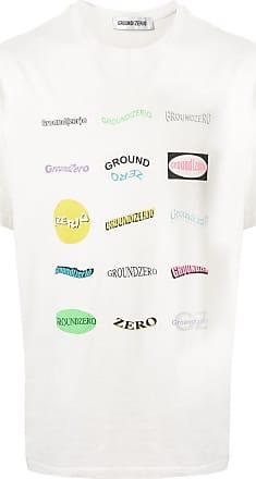 Ground-Zero Camiseta com estampa de logo - Branco