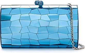 Serpui Clutch metalizada - Azul