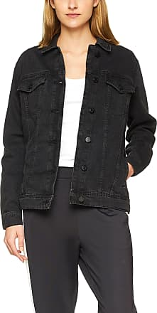 Noisy May Womens Nmole L/s Denim Jacket Noos, Black (Black Black), 32R (size: X-Large)