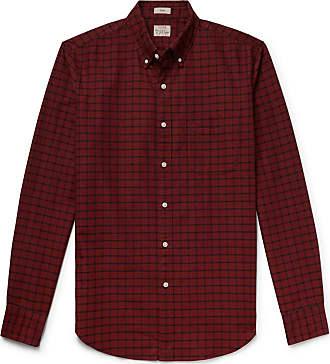 J.crew Slim-fit Button-down Collar Checked Pima Cotton Oxford Shirt - Red