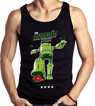 Dragon Store Camiseta Regata Android Attack Guerra sistemas Sem Manga