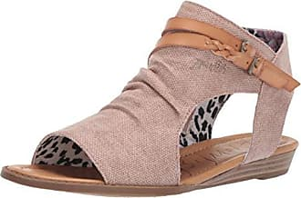 77bea54f7f7 Blowfish Womens Blumoon Wedge Sandal Desert Rose Rancher Wheat Dyecut 6  Medium US