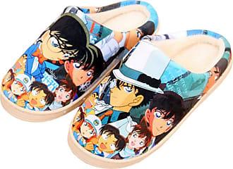 Cosstars Detective Conan Anime Anti-slip Home Slippers Cute Plush Warm Indoor Shoes
