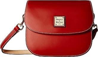 Dooney & Bourke Beacon Saddle Crossbody (Red/Red Trim) Cross Body Handbags
