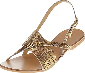 Pieces Womens Psjoyce Leather Sandal Ankle Strap, Beige (Natural Natural), 5 UK