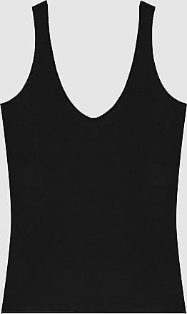Reiss Brie - Cotton-jersey Vest Top in Navy, Womens, Size XS