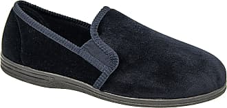 Zedzzz Mens Blue Textile Comfortable Slippers Sizes 8 to 16 (10)