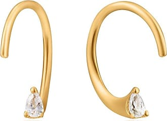 Acotis Limited Ania Haie Ear We Go Shiny Gold Twist Sparkle Earrings E023-05G