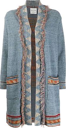 Forte_Forte geometric knit cardi-coat - Blue