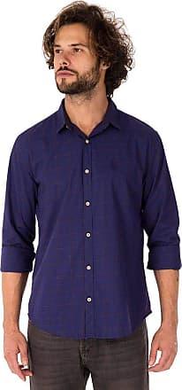 SideWalk Camisa Quadriculado Contraste - Azul Marinho - Tam 1