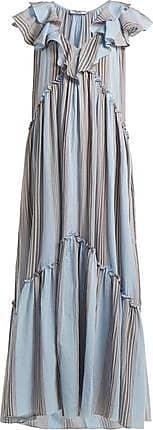 Three Graces London Wilhelmina Dress in Marari Stripe