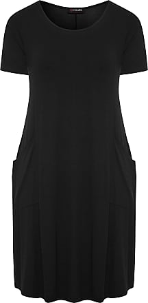 Yours Clothing Clothing Womens Plus Size Sustainable Dress Size 30-32 Black