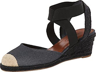 Bernardo Womens Nora, Black/Metallic Linen, 6 M US