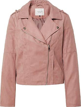 Jacqueline de Yong Womens JDYPEACH Faux Suede Biker OTW NOOS Leather Jacket, Wistful Mauve, 16