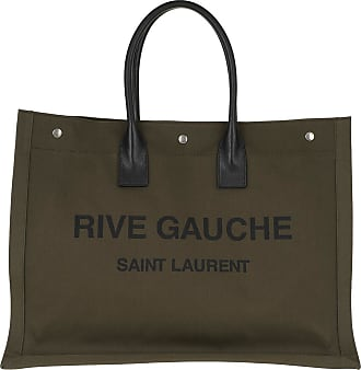 Saint Laurent Rive Gauche Tote Bag Khaki Shopper grün