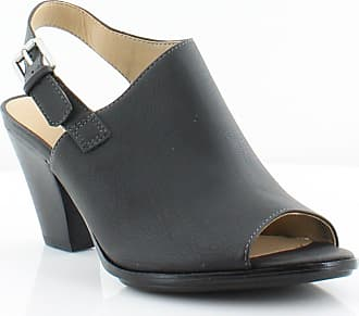 Naturalizer Womens Takoda Open Toe Formal Slingback, Black Smooth, Size 6.0 US/US