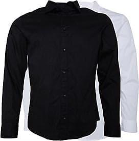 Jack & Jones slim fit two pack long sleeve shirts