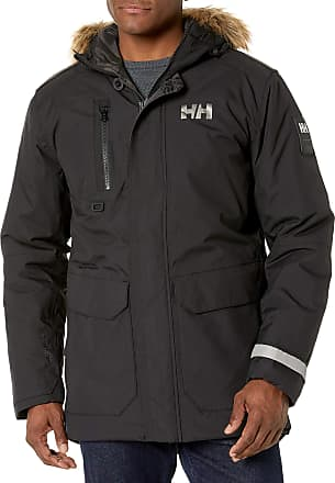 Helly Hansen Mens Svalbard Hooded Waterproof Windproof Breathable Insulated Winter Parka Coat, 990 Black, XX-Large