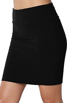 The Celebrity Fashion New Womens Jersey High Waist Bodycon Mini Skirt Elasticated Short Skirts UK 8-14 Black