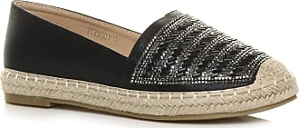 Ajvani Womens Ladies Flat Platform Espadrille Loafers Diamante Flatform Shoes Size 4 37 Black