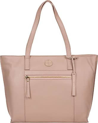 Pure Luxuries London Pure Luxuries London Skye Womens 40cm Biodegradable Leather Tote Bag with Zip Over Top, 100% Natural, Untreated Cotton Lining and Matching Slimline Le