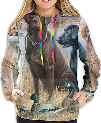 Not Applicable Clothing Duck Hunting Labrador Retrievers Fashionable Soft Women Long Sleeve Hoodie Suitable for Spring Autumn and Winter Tops Black