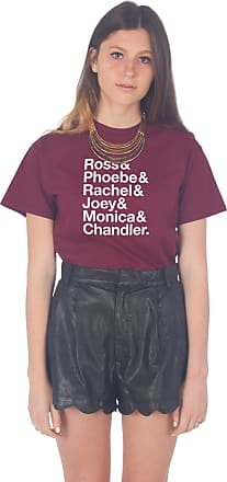 Sanfran Clothing Sanfran - Friends Ross Phoebe Rachel Joey Monica Chandler T-Shirt - Small/Maroon