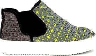 bernie mev. Womens Mid Axis Web Fashion Sneaker (Gunmetal Neon Grey Web, Numeric_8)