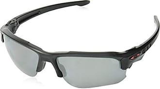 Oakley Mens Speed Jacket Polarized Iridium Oval Sunglasses, Black, 67.0 mm