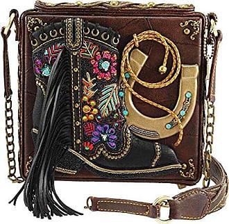 15346ad2e63a Mary Frances Line Dance Embellished Cowboy Boot-Western Theme Crossbody  Handbag