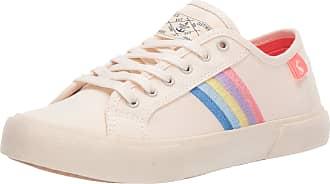 Joules Womens Coast Pump Trainers, White (Rainbow Rainbow), 7 (40/41 EU)
