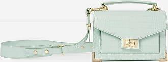 The Kooples The Kooples - Sac mini Emily cuir faux croco vert menthe fermoir métal - FEMME
