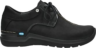 Wolky Comfort Lace up Shoes Wasco - 11000 Black Nubuck - 38
