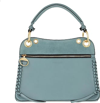 See By Chloé Satchel Bags - Whipstitch Panelled Tote Bag Leather Mineral Blue - teal-cyan - Satchel Bags for ladies