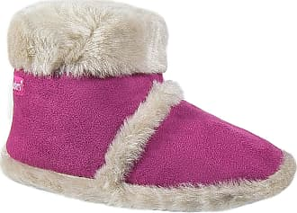 Coolers Ladies Ruched Collar Knitted Boot Slippers