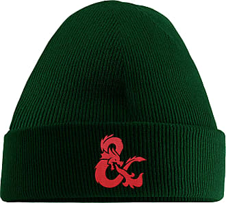 HippoWarehouse Dragon Symbol Embroidered Beanie Hat Bottle Green
