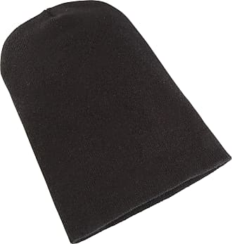 Yupoong Flexfit Unisex Heavyweight Long Beanie Winter Hat (One Size) (Black)