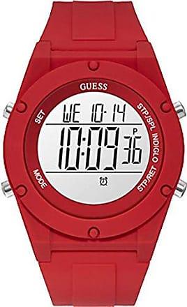 Guess Relógio Guess Feminino Vermelho 92761l0gtnp4 Digital 3 Atm Cristal Mineral Tamanho Grande