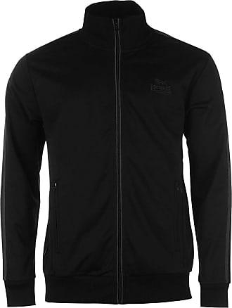 Lonsdale Mens Tracksuit Jacket Sport jacket Sport Leisure Zip fastener. - Black - XXXX-Large