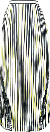 Liu Jo striped pleated skirt - Blue