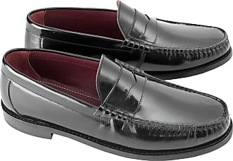 Ikon Steptronic Albion Mens Polished Leather Loafer Shoes Black UK 12