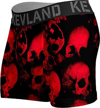 Kevland Underwear Cueca Kevland Boxer Red Skulls KEV312 GG