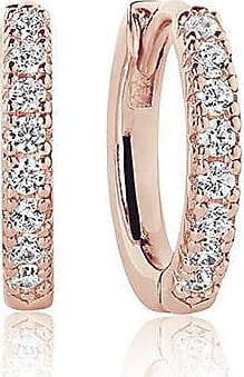 Sif Jakobs Jewellery Earrings Ellera medio - 18k rose gold plated with white zirconia