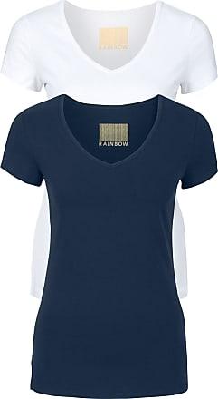 2ce80aadbd Bonprix T-shirt donna con scollo a V (pacco da 2) (Blu